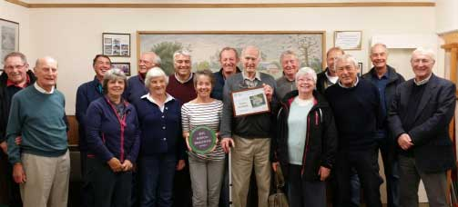 Dorset Best Village Award 2015 for Burton Bradstock