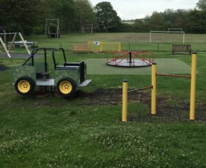 A Huge thankyou to all the volunteers who helped repaint the older equipment in the park last week. It looks amazing and good as new.